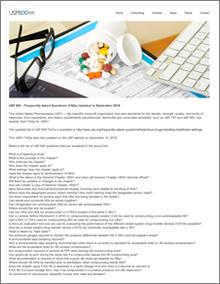 USP 800 - Frequently Asked Questions, © William N. Bernstein, USP800.guru